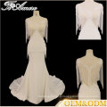Tiamero Beaded curtain round neckline lace decent organza fabric sweetheart bridesmaid wedding gown dress