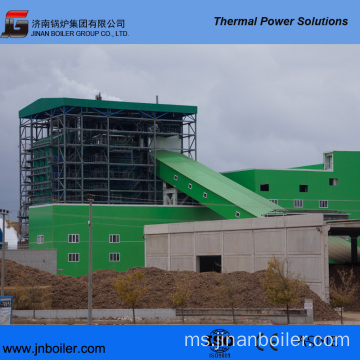 130 T / H Vibrating Grate Bark Leaves Fired Boiler