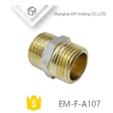 EM-F-A107 Encaixe de tubulação de união de latão de rosca macho reta igual