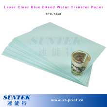 Laser Blue Transparent Water Side Decal Transfer Printing Paper