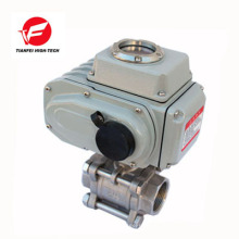 12v 24v 220v ss304 4-20ma válvula de controle de fluxo elétrico automático