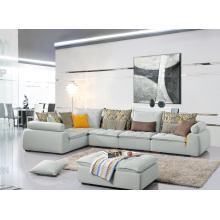 Mobiliário de sala de estar Popular Canapé de canto de tecido de 3 lugares
