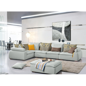 Мебель для гостиной Популярные 3 Seater Ткань Угловой диван