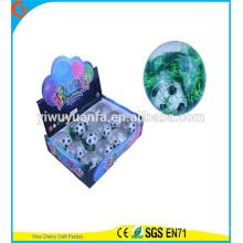 Juguete de la venta caliente del juguete de goma LED Glitter Flash Player Light-up Bouncing Ball