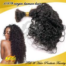 Tressage de cheveux en vrac malaisien de cheveux humains non transformés de 100%