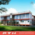 China Prefabricated Light Steel Villa House as Modular Office Building