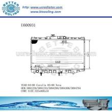 RADIATOR 3091229/3091233/3094298/3094300/3094794 Pour TOYOTA 85-88 COROLLA / NOVA Fabricant et vente directe!