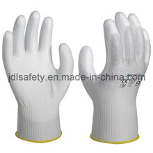 Cut Resistant Work Glove with White PU Coated (PD8025)