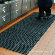 Tapis de cuisine en caoutchouc de drainage de verrouillage, tapis en caoutchouc de cuisine