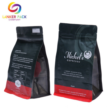 High+Barrier+Flat+Bottom+Coffee+Bag+Packaging+Printing
