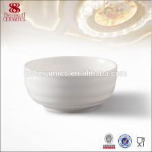 Chaozhou pas cher petit bol en céramique blanche, bol de soupe bon marché pour hôtel 5 étoiles