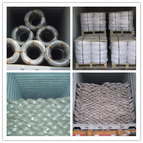 galvanized wire loading