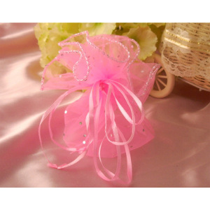 Stylish wedding customizable organza pouch