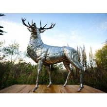 stainless steel stag sculpture VSSSP-33S