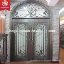 Novos projetos de design de porta de porta de ferro forjado exterior