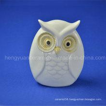 Ceramic Gifts Lovely Owl White Glazed Home Decoration