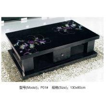 Moderne Serie Schwarzglas Couchtisch mit Schublade (P01)