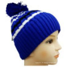 Bonnet tricoté avec POM POM NTD1603