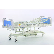 Five-function hydraulic bed