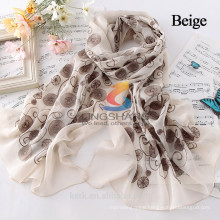 New Polyester Lace Floral Sunscreen Soft Scarves Shawl Cape Neck Wrap Stole Flower Scarf Winter Warm 5 Colors Women Accessories