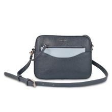 Women Leather Crossbody Bag With Zipper Clutch Purse
