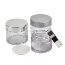 Principaux produits du fabricant Pot de crème cosmétique en plastique PETG de différentes capacités avec couvercle