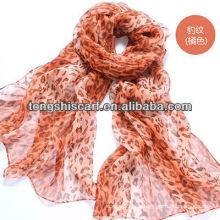 Роскошные жоржет шелковый шарф