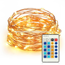 Invisível 33ft 100 LEDs Luzes Cordas de Fadas com Controle Remoto Dimmable levou corda de fio de cobre Luzes Luzes Da Corda