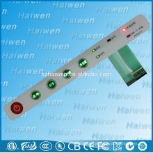 Comutador de membrana de retroiluminação LED com adesivo 3M468