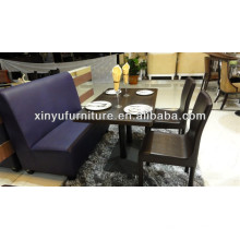 Modern restaurant booth sofa dining table and chair sets XDW1011