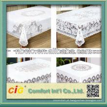 Tampa de pano de mesa de PVC em peça de crochê