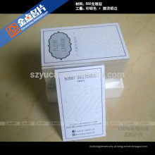 Hot Stamping impressoras tipografia papel de luxo cartões de visita reciclados
