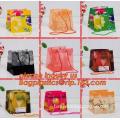 CHRISTMAS CANDY BAGS, foldable reusable shopping bag, HDPE plastic shopping bag