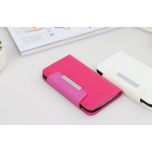 Розовый защитный магнитный пояс кожаный чехол для Samsung С6