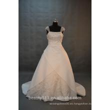 EN STOCK Hombro-correas Vestido de boda del vestido de bola Vestido nupcial del piso-longitud SW13