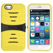 Cubierta rígida resistente del teléfono móvil de Kickstand de la armadura híbrida para el iPhone 6