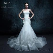 ZXB6 sirena apliques de encaje rebordear amor vestido de boda Alibaba