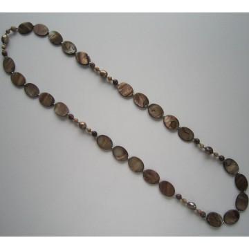 Collier de perles de grande taille, bijoux en perles costumes