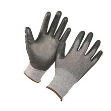 Wholesale Black Oil Proof Resistant Hand Safety Work ESD PU Coated Glove