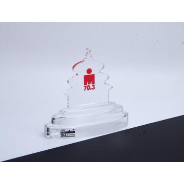 Trofeo de acrílico con forma personalizada