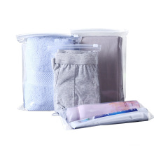 Zipper Top Clothes Package Bag Trouser Shoes Packaging Bag Transparent PE Stand up Pouch Shopping Customized Logo Moisture Proof