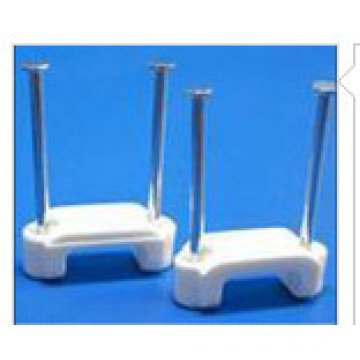 Double Nail Flat Cable Clips/ Steel Nail Clip