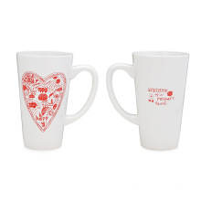 Personalized Custom Logo Colorful Heat-Resistant Heat Transfer Bone China Ceramic Cup Coffee Drinking Decal Printing Stoneware Drinkware Glazed Porcelain Mug
