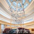 Luxury large hotel decoration glass chandelier