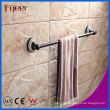 Fyeer Classic Black Bathroom Accessory Brass Towel Bar