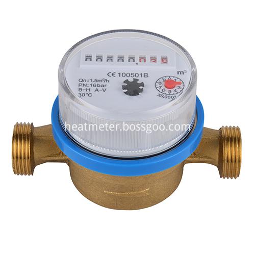 Brass Single Jet Vane Wheel Dry Type Mechanical Water Meters