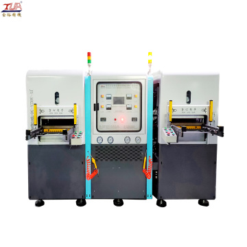 double head silicone heat transfer clothing label machine