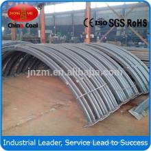 Support de toit en acier enterré pour l'utilisation des tunnels et des mines