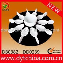 Set de vajilla de porcelana blanca personalizada de 12 piezas