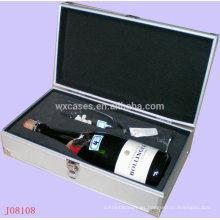 cajas de regalo de aluminio para copas de vino y botella alta calidad de la fábrica de China